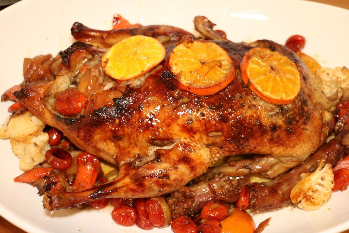 Marinated duck
